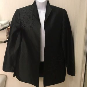 NWT Victor Costa Occasions Embroidered Silk Jacket